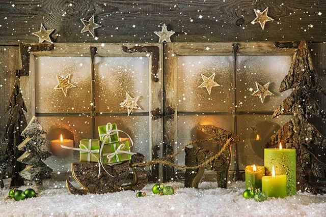 weihnachtsmotiv-kerzen-gruen